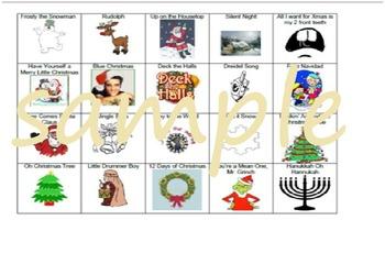 Holiday/Christmas Song Bingo