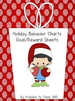 Holiday/Christmas Theme GOAL & REWARD Student Sheets