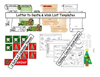 Holiday/Christmas Themed Activities Bundle