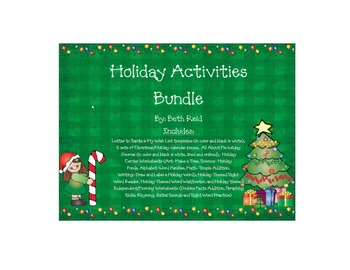 Holiday/Christmas Themed Activities Bundle