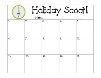 Holiday/Winter Scoot
