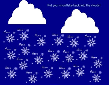 Holiday/Winter themed smartboard attendance files!