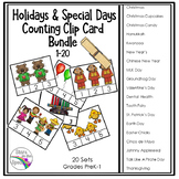 Counting Clip Cards for the Year - Holidays and Special Days