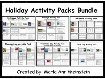 Holidays Activity Packs Bundle