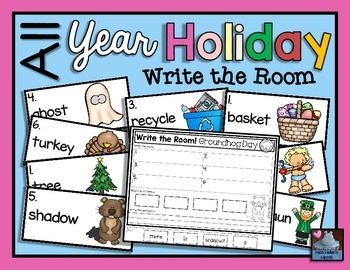 Holidays All Year {Write the Room}