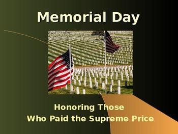 Holidays & Anniversaries - Memorial Day
