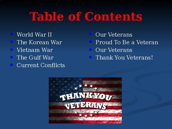 Holidays & Anniversaries - Veterans Day