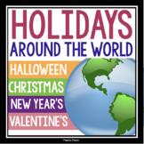 HOLIDAYS AROUND THE WORLD: CHRISTMAS, VALENTINE'S DAY, & HALLOWEEN BUNDLE