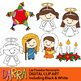 Holidays Around The World Clip Art (St. Lucia's day, Las Posadas Clipart)