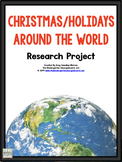 Holidays Around the World:An Editable Research and Writing Project PLUS Centers!