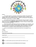 Holidays Around The World Parent Letter