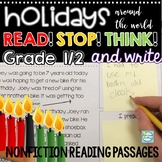 Holidays Around The World Reading Passages with Stop and Think