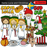 Holidays Around The World-Santa Lucia and Christmas clip art