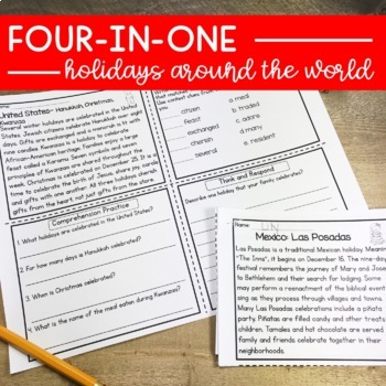 Holidays Around The World Upper Elementary Reading Comprehension Passages