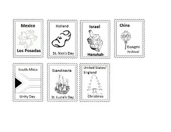 Holidays Around The World stamps