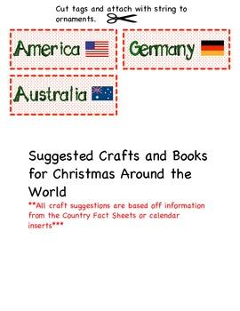 Holidays Around the World Calendar Cards & Activities