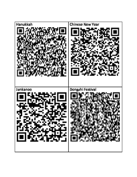Holidays Around the World with QR codes