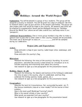 Holidays Around the World - A Cultural Project