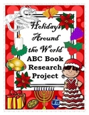 Holidays Around the World ABC Book Research Project-Christmas, New Years, Winter