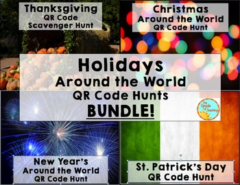 Thanksgiving, Christmas, New Years, St. Patrick's Day: Research BUNDLE!