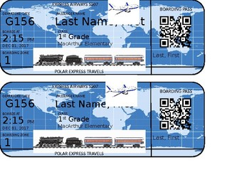 Holidays Around the World Boarding Pass with QR Code (PERSONALIZE)