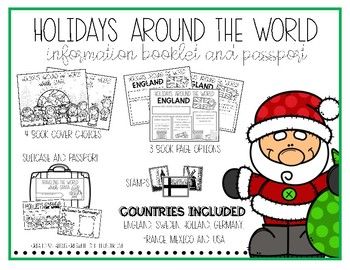 Holidays Around the World Booklet and Passport