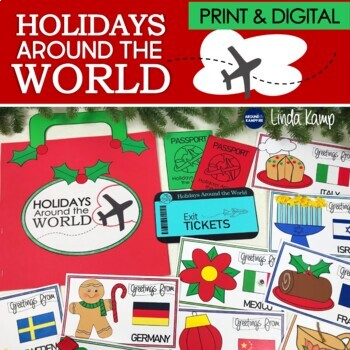 Holidays Around the World, Christmas Around the World, Activities & PowerPoint