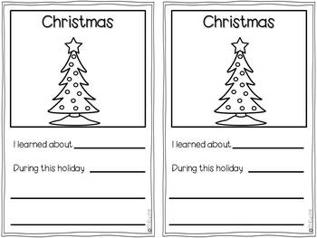 Holidays Around the World Christmas Freebie