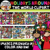 Holidays Around the World Clipart Growing Bundle {Holidays Clipart}