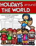 Holidays Around the World Close Read Passages & Poem