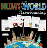 Holidays Around the World | Differentiated Reading Passages | Print and Digital