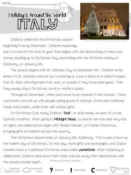 Christmas Around the World, Holidays Around the World, Close Reading, Bundle