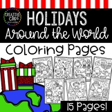 Christmas Around the World Coloring Pages: Christmas Color