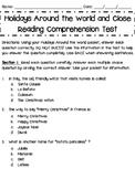 Holidays Around the World Comprehension Test