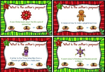 Holidays Around the World (Differentiated Author's Purpose Task Cards)