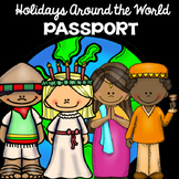 Holidays Around the World Passport | Differentiated for Primary Students