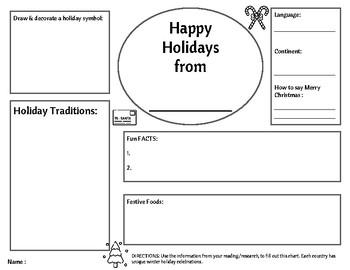 Holidays Around the World - FREEBIE