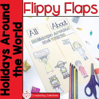 Holidays Around the World Flippy Flaps Interactive Notebook Lapbook
