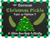 Holidays Around the World - German Christmas Pickle - Clos