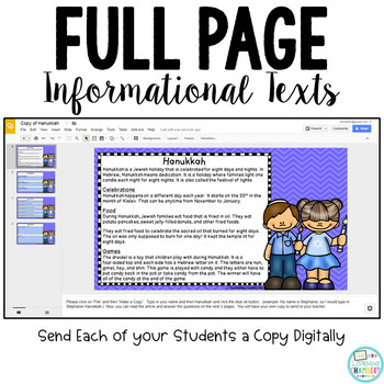 Holidays Around the World: Google Drive Close Reads and Self-Grading Assessments