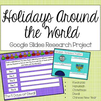 Holidays Around the World Google Research - Christmas Activity- NO PREP