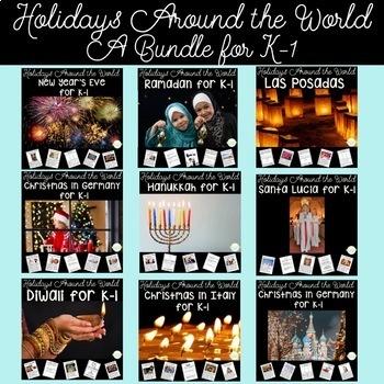 Holidays Around the World for Kindergarten & First Grade | HUGE Bundle!