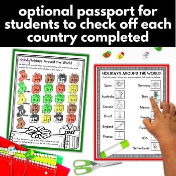 Christmas Around the World Math Kindergarten