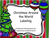 Holidays Around the World Labeling Sheets