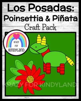 Holidays Around the World: Las Posadas Crafts: Poinsettia, Piñata