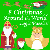 Christmas Around the World  8 Logic Puzzles! Grades 2, 3 & 4
