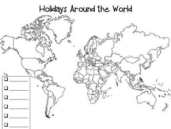 Holidays Around the World Map