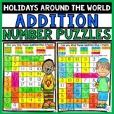 Holiday Around the World Math Addition
