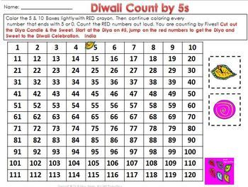 Holidays Around the World Math Center Freebie Counting Patterns on a 120 Chart