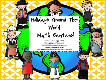 Holidays Around the World Math Centers!